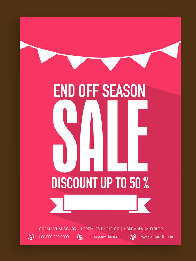 Beautiful poster banner or flyer design for End of Season sale with discount offer.