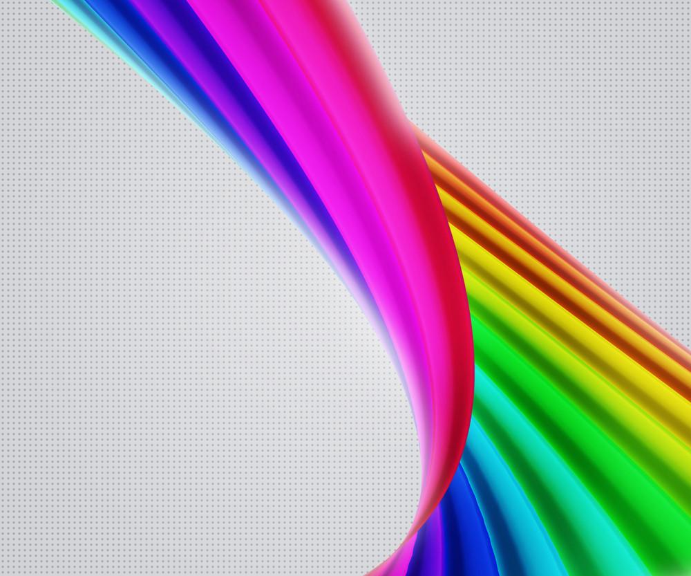 Beautiful Rainbow Shapes Background