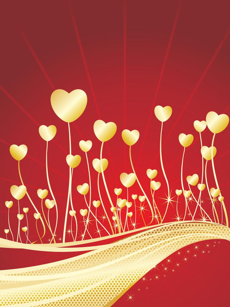 Beautiful Romantic Background Illustration
