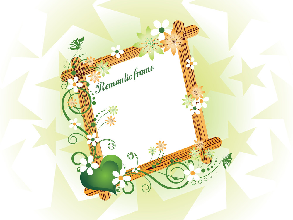 Beautiful Romantic Frame Illustration