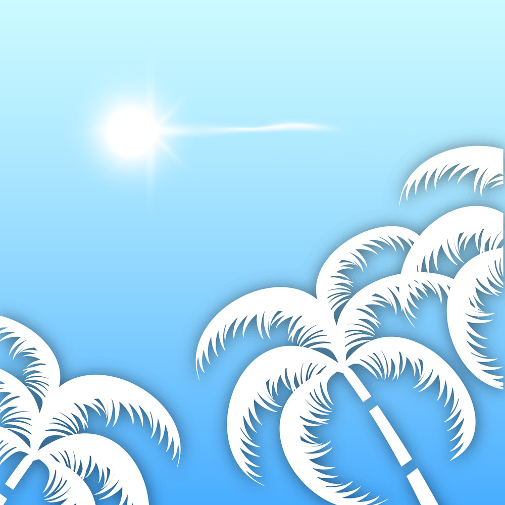 Beautiful Summer Background With Palm Trees