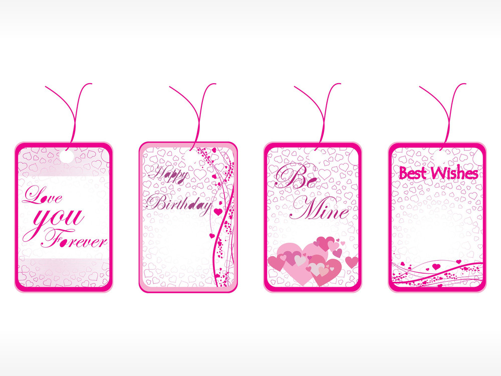 Beautiful Tags With Love Set 11