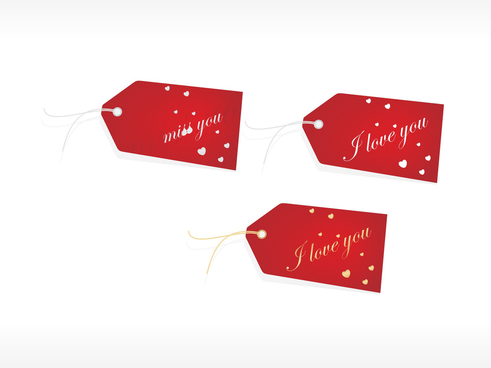 Beautiful Tags With Love Set 12