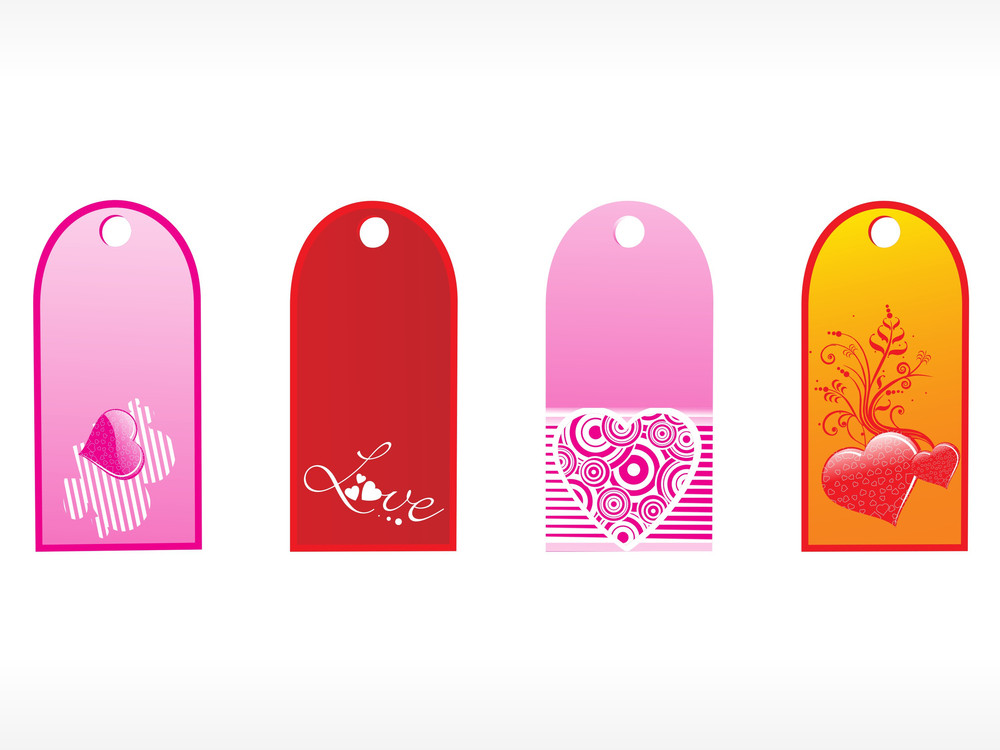 Beautiful Tags With Love Set 3