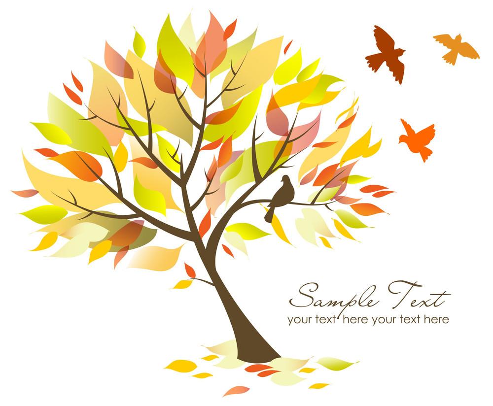 Beautiful Tree And Birds