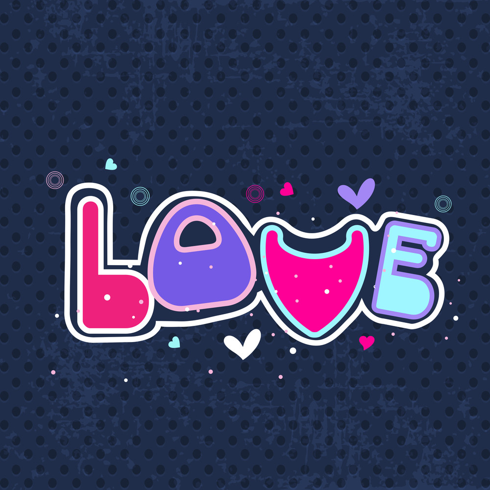 Beautiful Valentine Background With Creative Text Love.