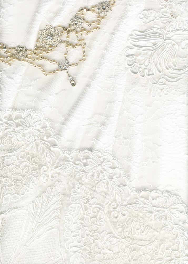 Beautiful White Textile Wedding Background