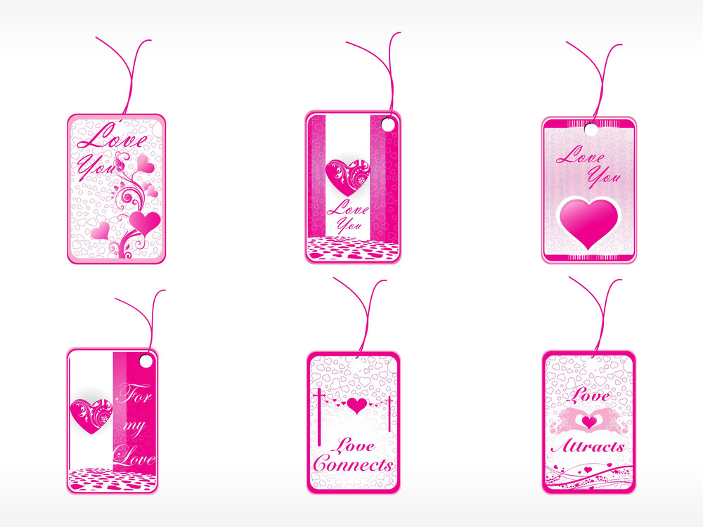 Beautifull Tag With Floral Eleents   Set_3