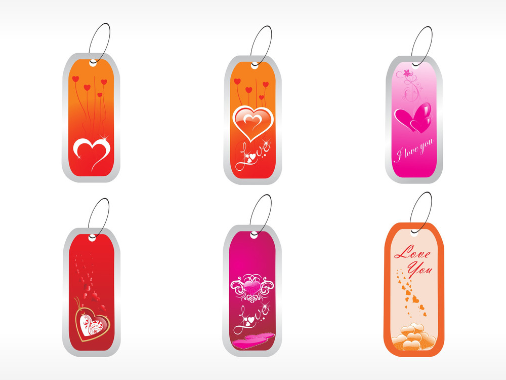 Beautifull Tag With Romantic Heart Set_11