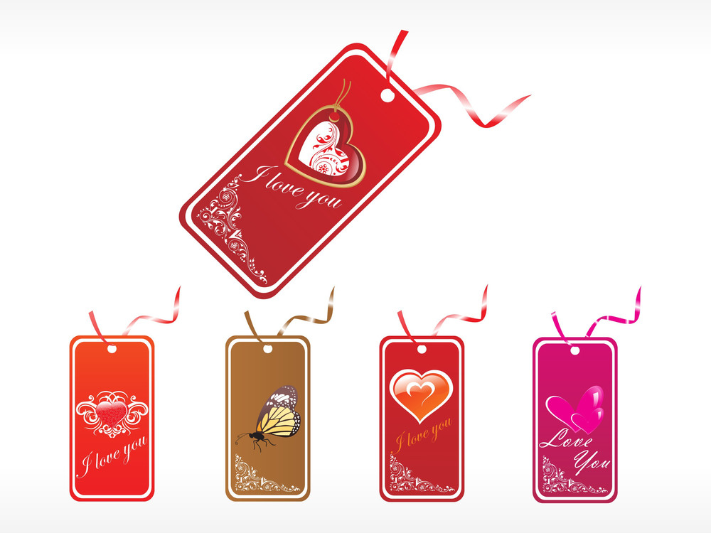 Beautifull Tag With Romantic Heart Set_19