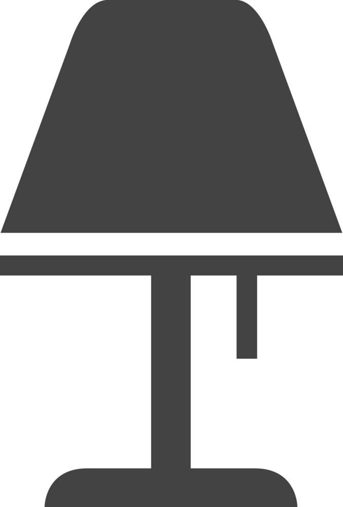 Bed Lamp Glyph Icon