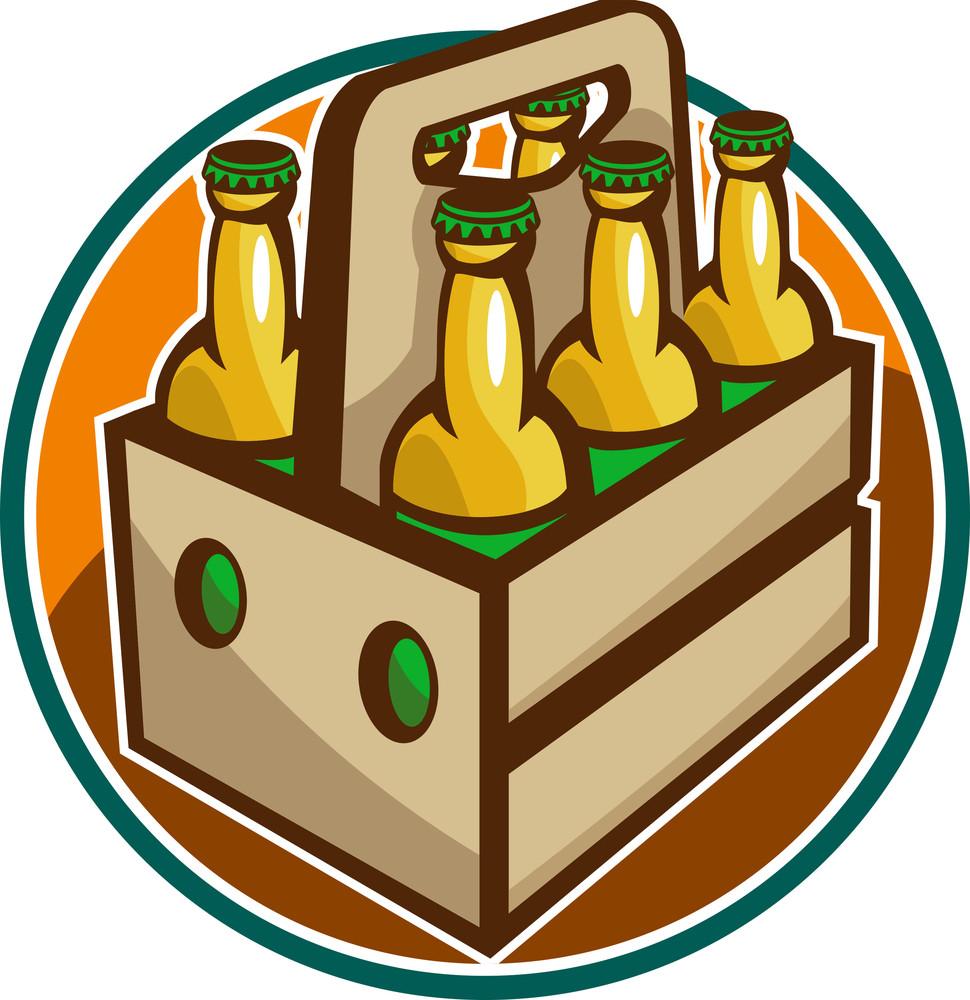 Beer Bottle 6 Pack Retro