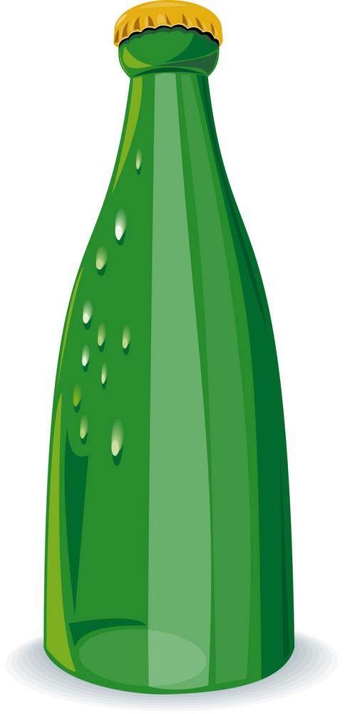 Beer Bottle Green Retro
