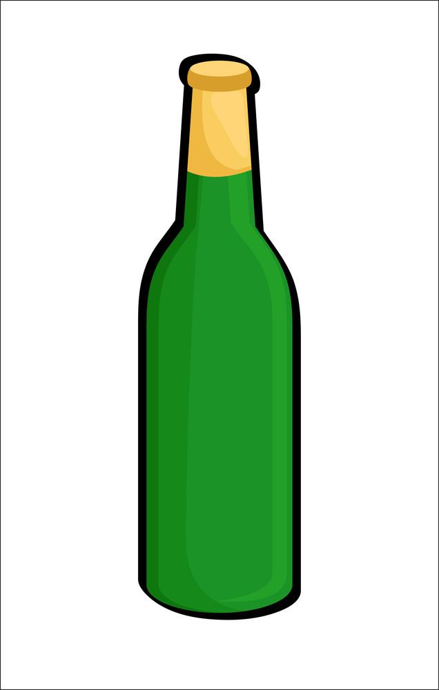 Beer Bottle Vector Shape