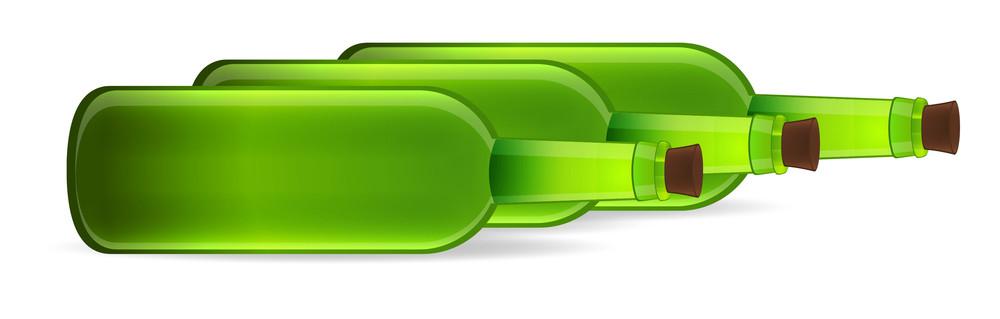 Beer Bottles Vector Set