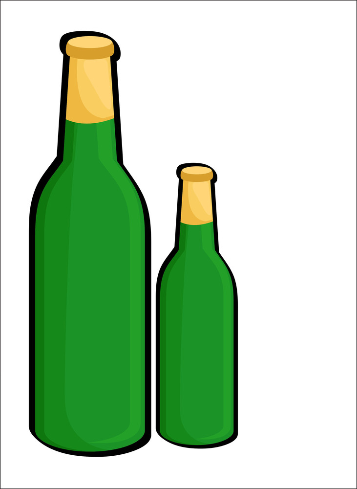 Beer Bottles Vector Shapes