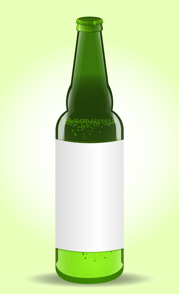 Beer Bottles With Blank Label