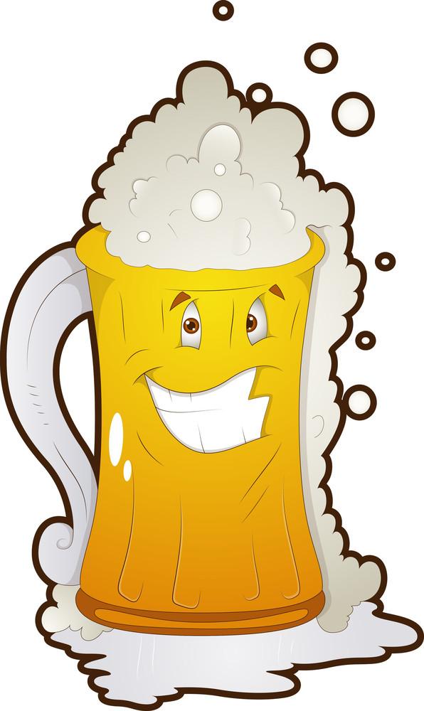 Beer Glass - Cartoon Character