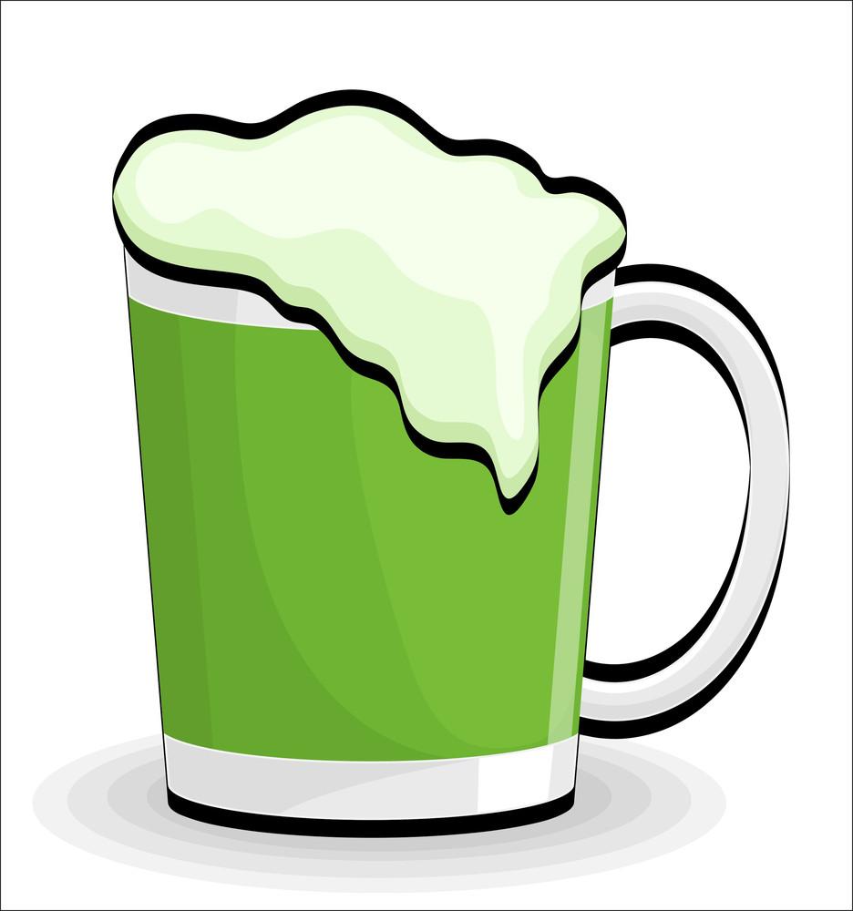 Beer Glass Retro Vector Design