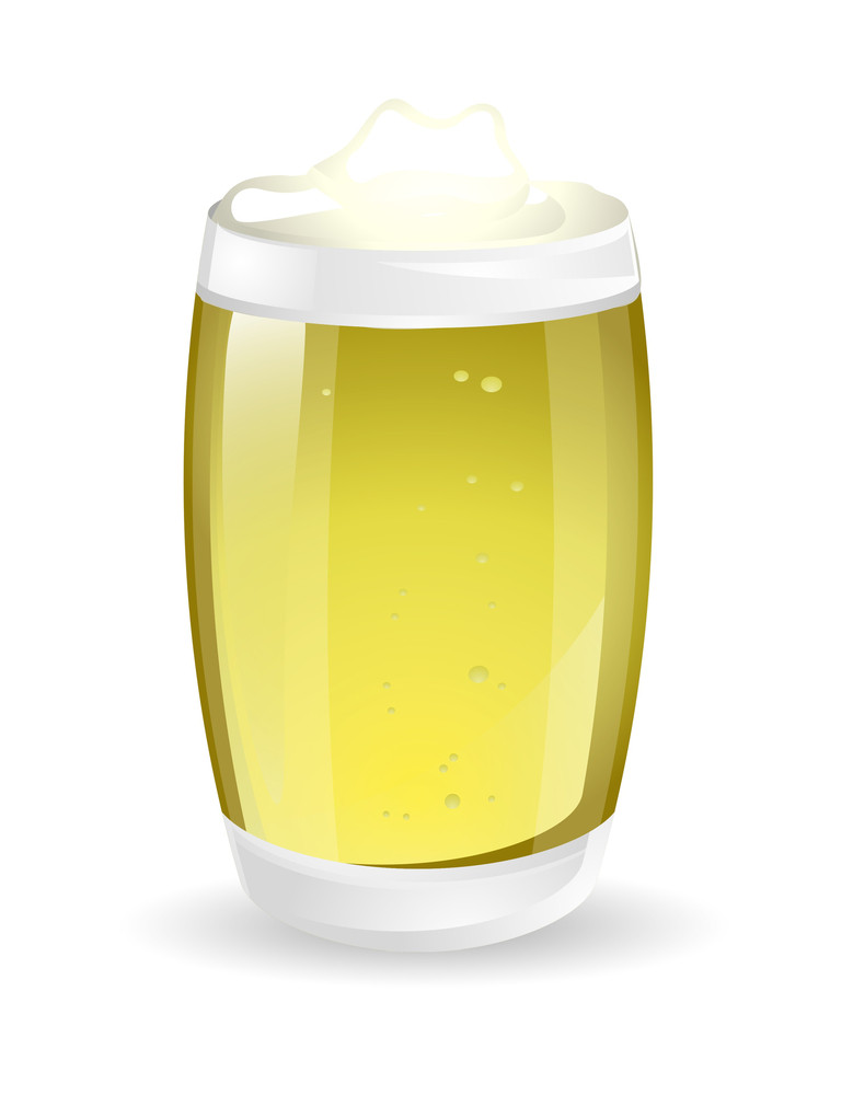 Beer Glass Vector Illustration