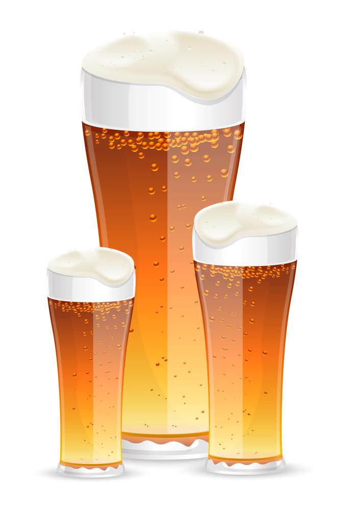 Beer Glasses Vectors