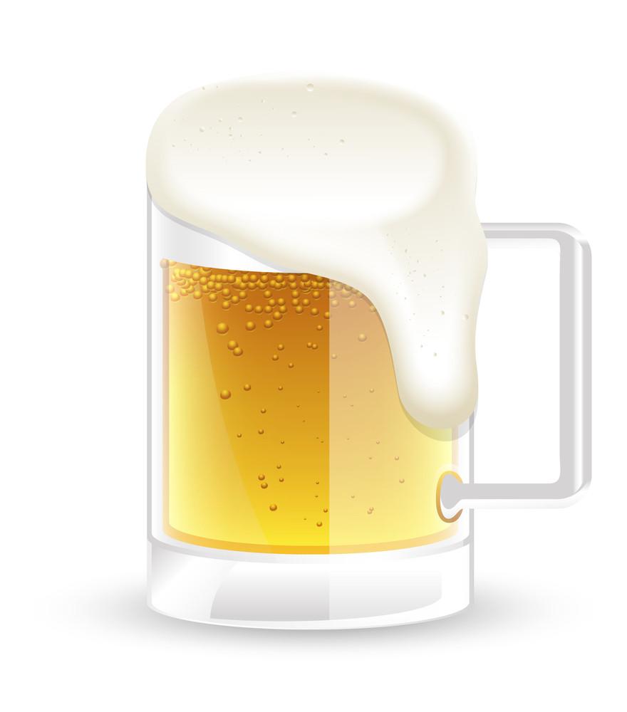 Beer Mug Vector Illustration