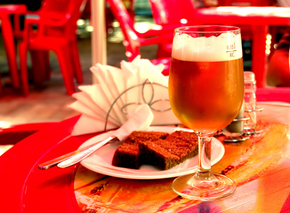 Beer On Red Table