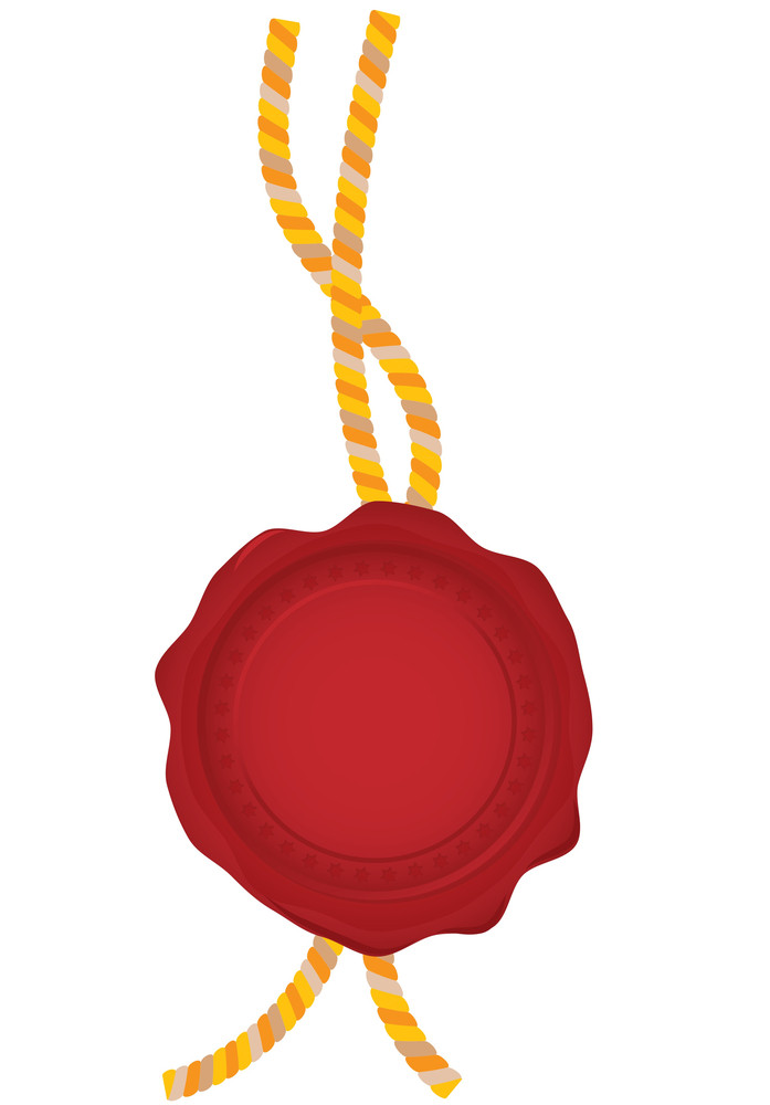 Beeswax Seal. Vector. (easy To Edit - No Gradient Meshes Used)