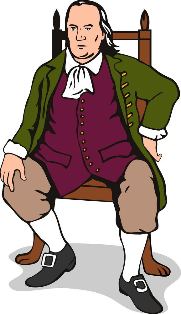 Ben Franklin Sitting Retro