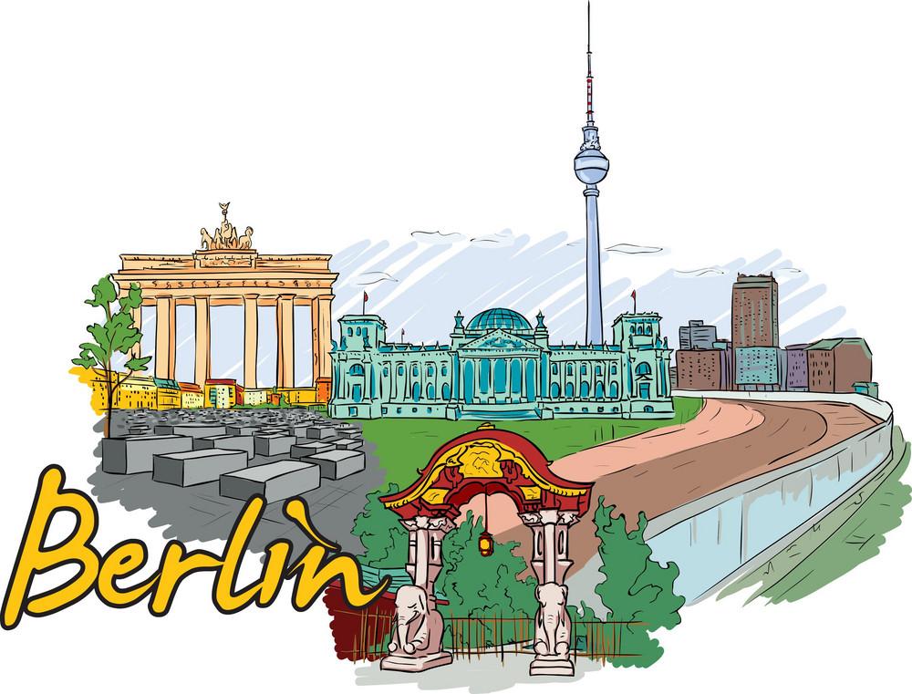 Berlin Vector Doodle