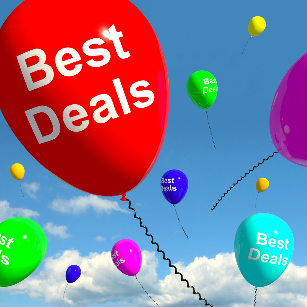 Best Deals Balloons Representing Bargains Or Discounts
