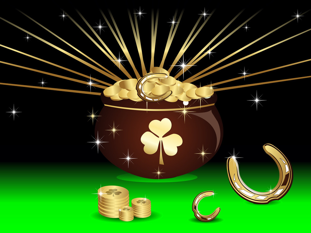 Beutiful Rays Background For St.patricks Day