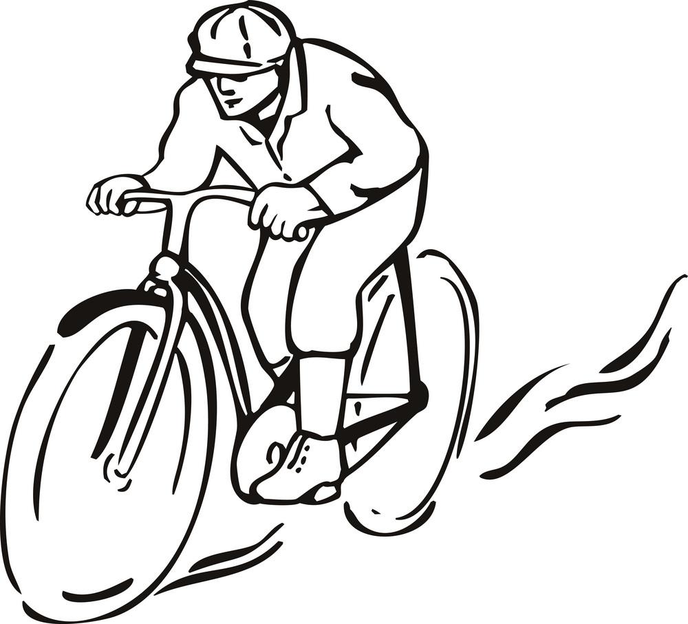 Bicycle Riding Retro Style