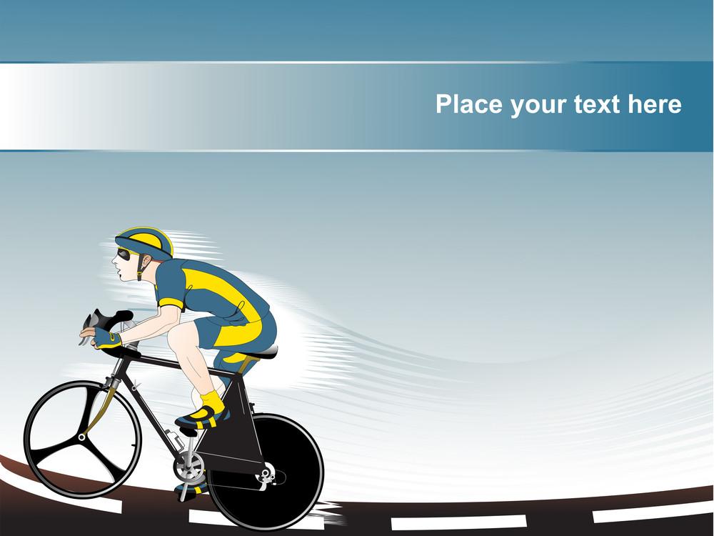 Bicyclist Vector Illustration