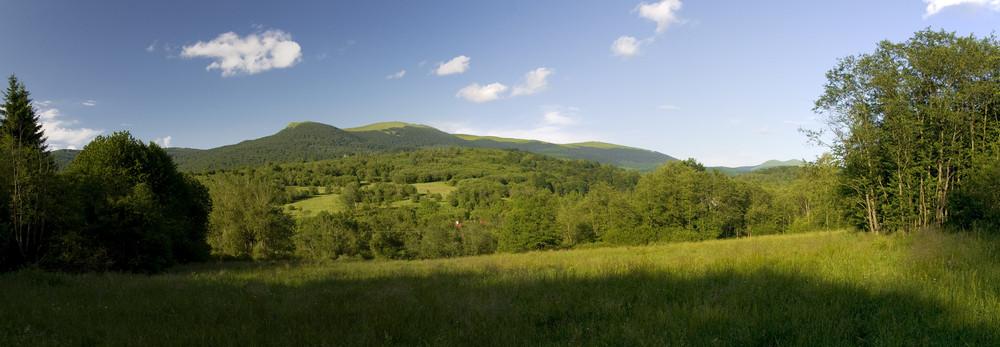 Bieszczady Mountains In Poland Landscape