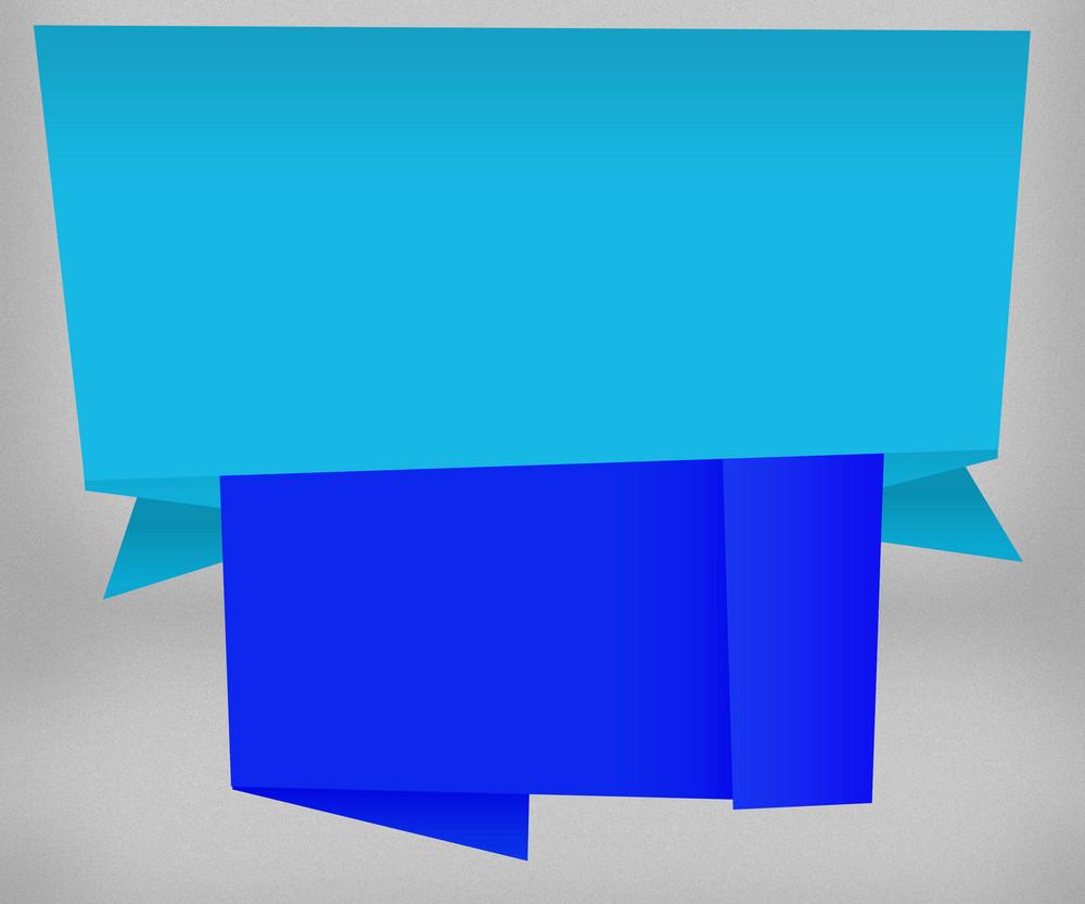 Big Blue Origami Background