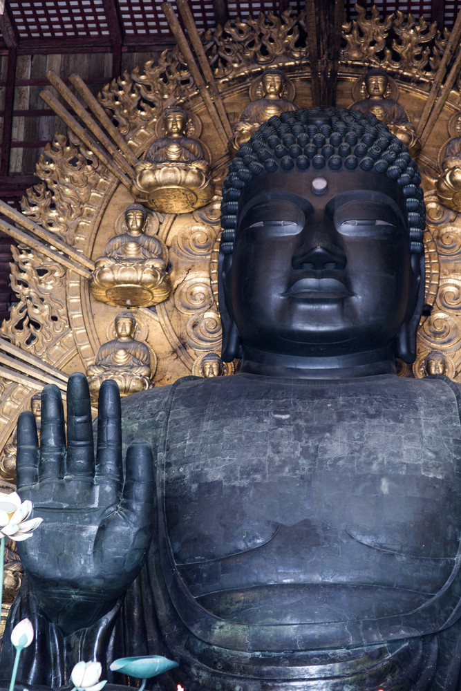 Big buddha in Todai-ji Temple. Nara. Japan