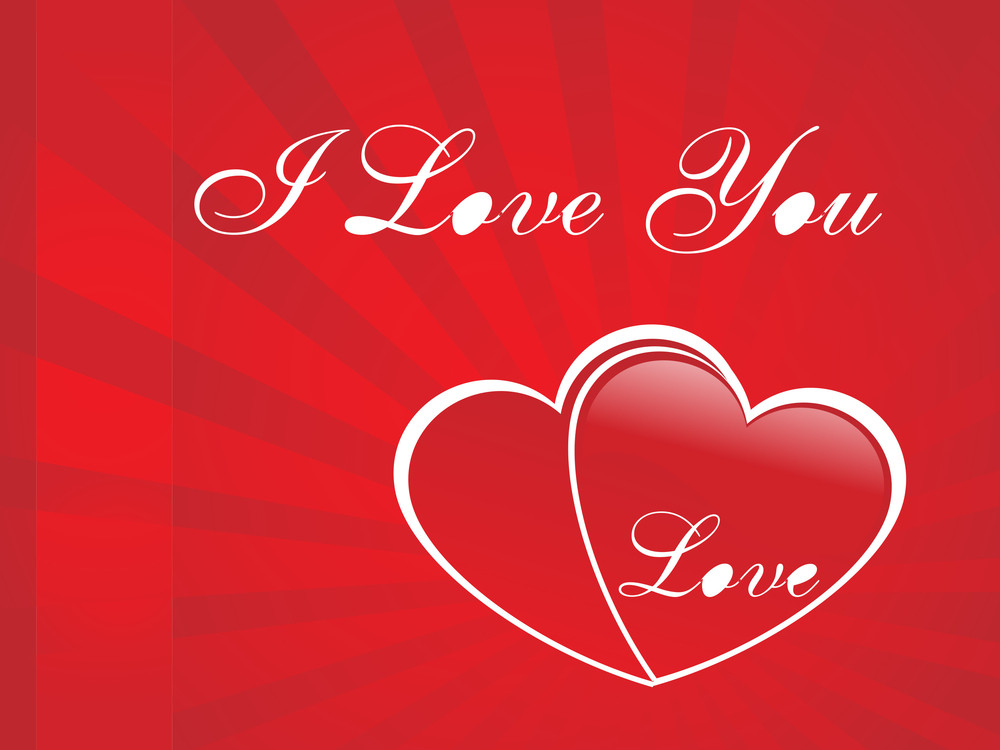Big Red Dappled Heart On Red Background