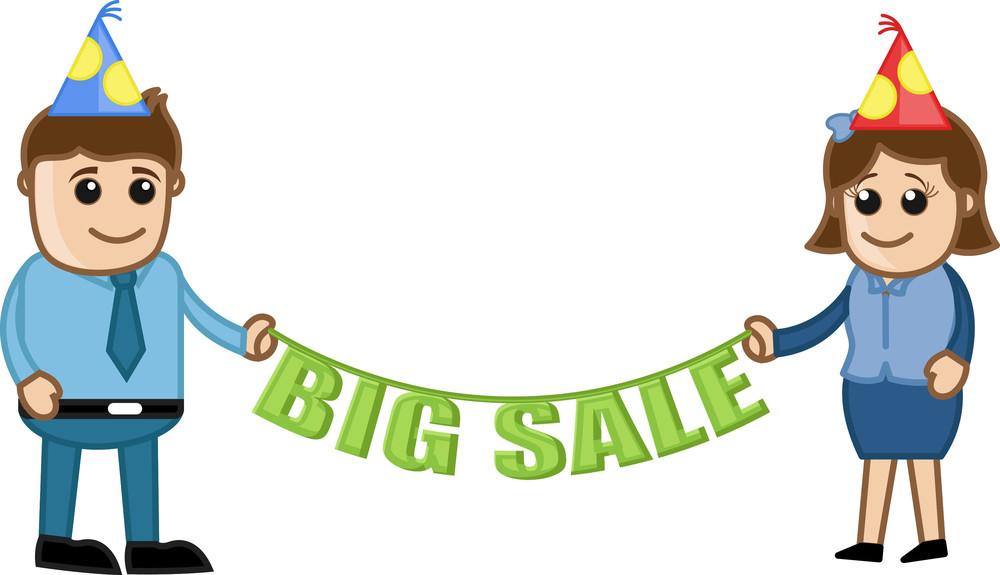 Big Sale - Cartoon Business Characters