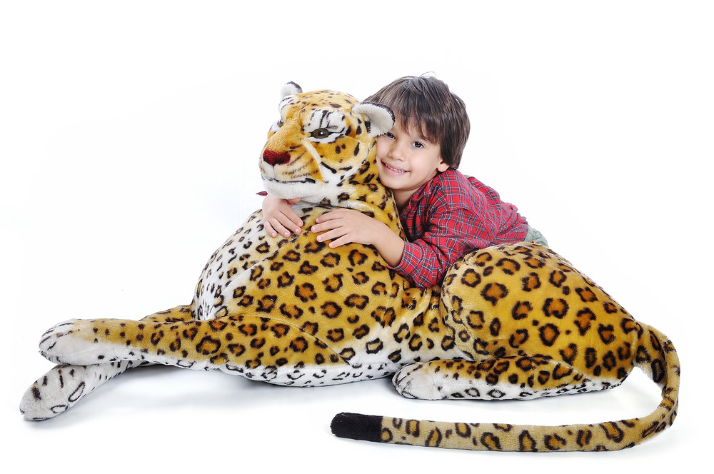 Big wild animal but toy on isolated background