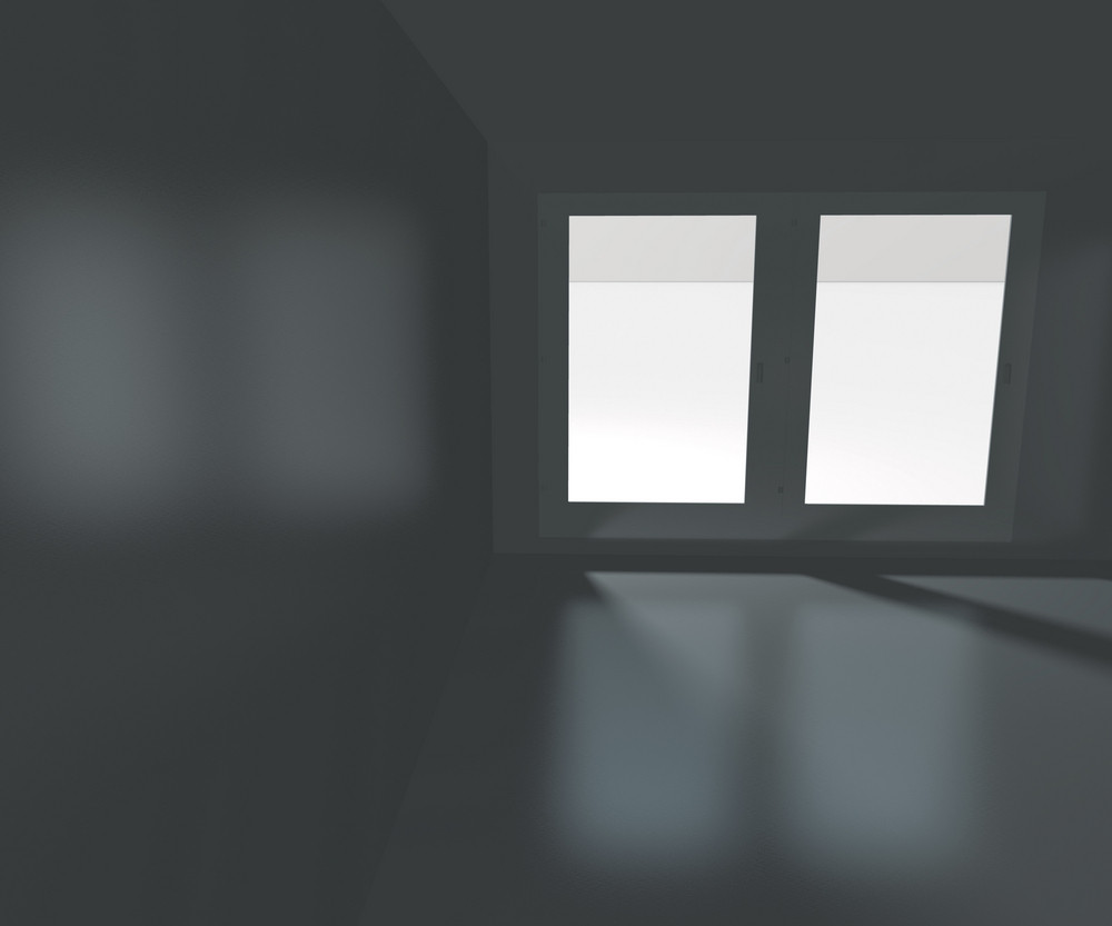 Big Window Empty Interior Rendered Background