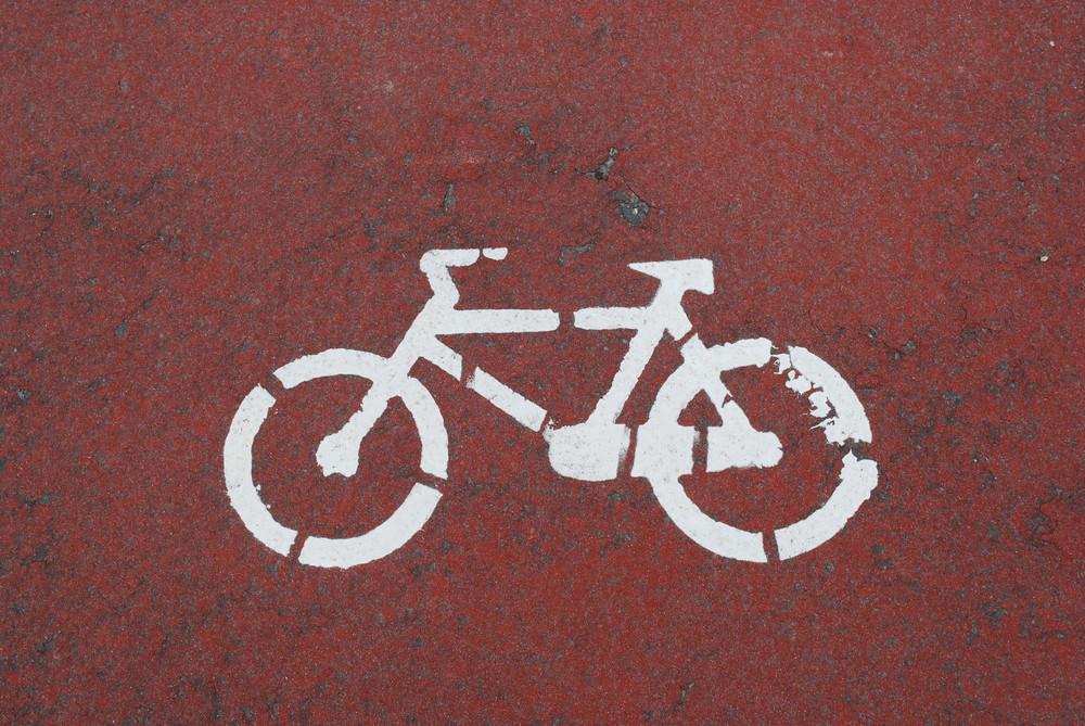 Bike Lane On A Bright Day