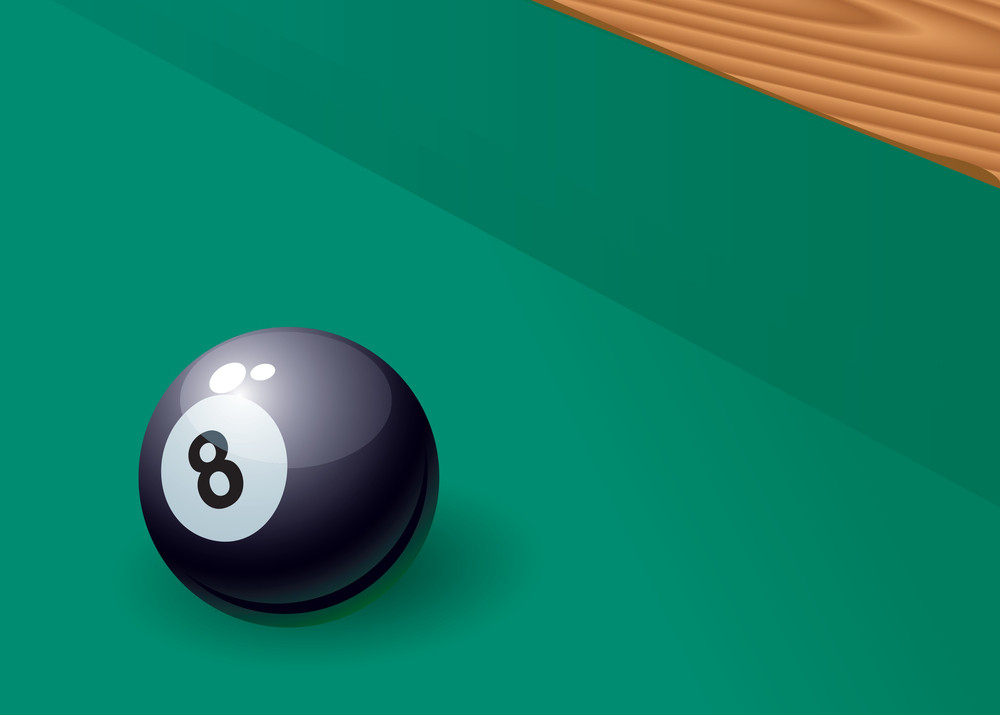 Billiards. Vector.