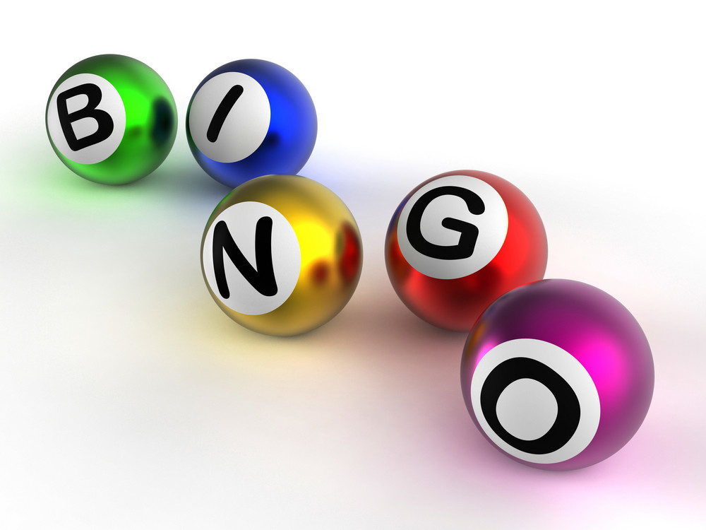 Bingo Balls Showing Luck At Lottery