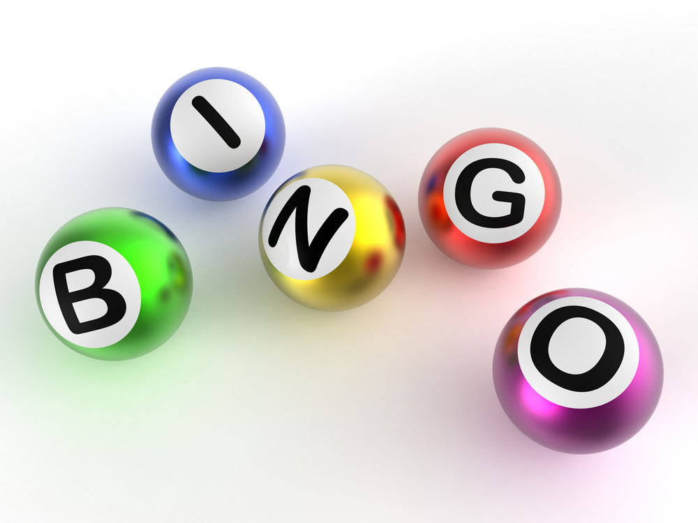 Bingo Balls Shows Luck At Lottery