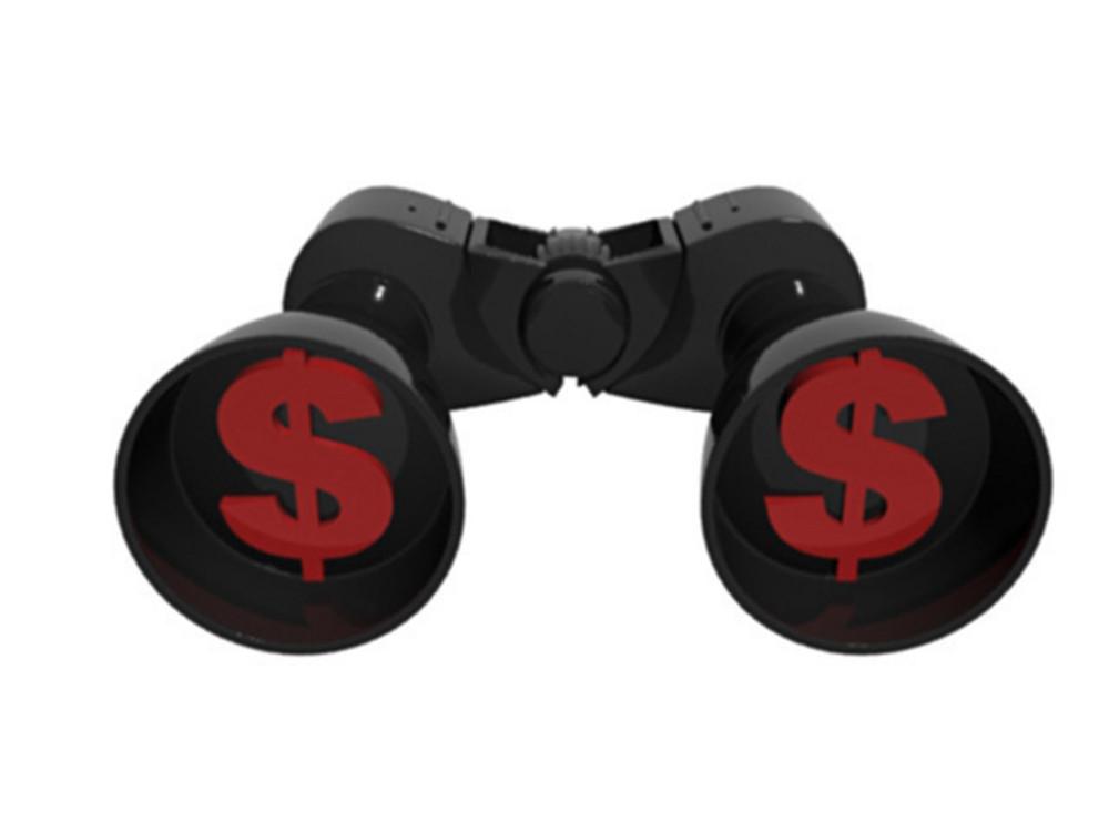 Binocular With Dollar Symbols
