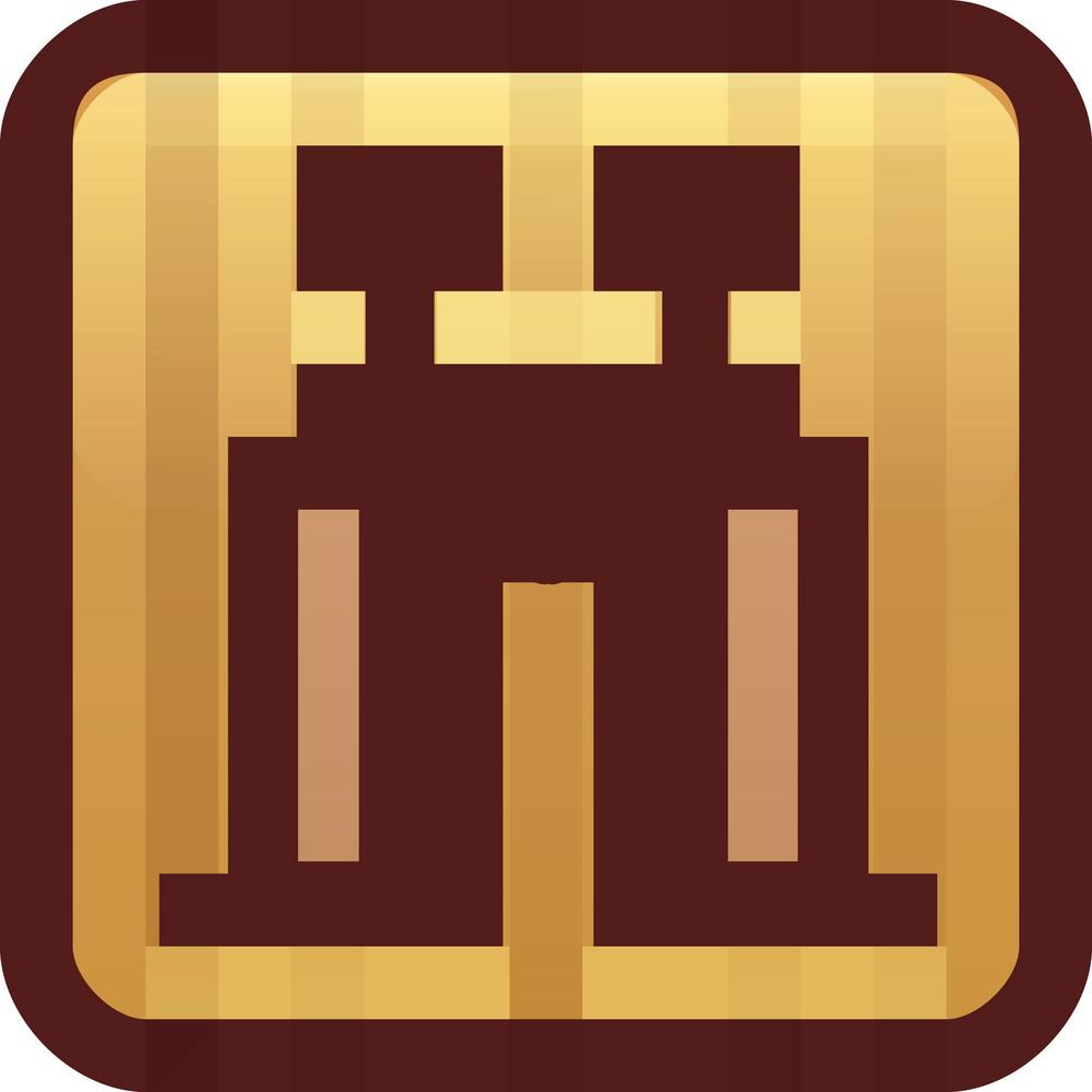 Binoculars Brown Tiny App Icon