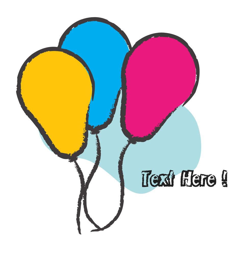 Birthday Balloons Background