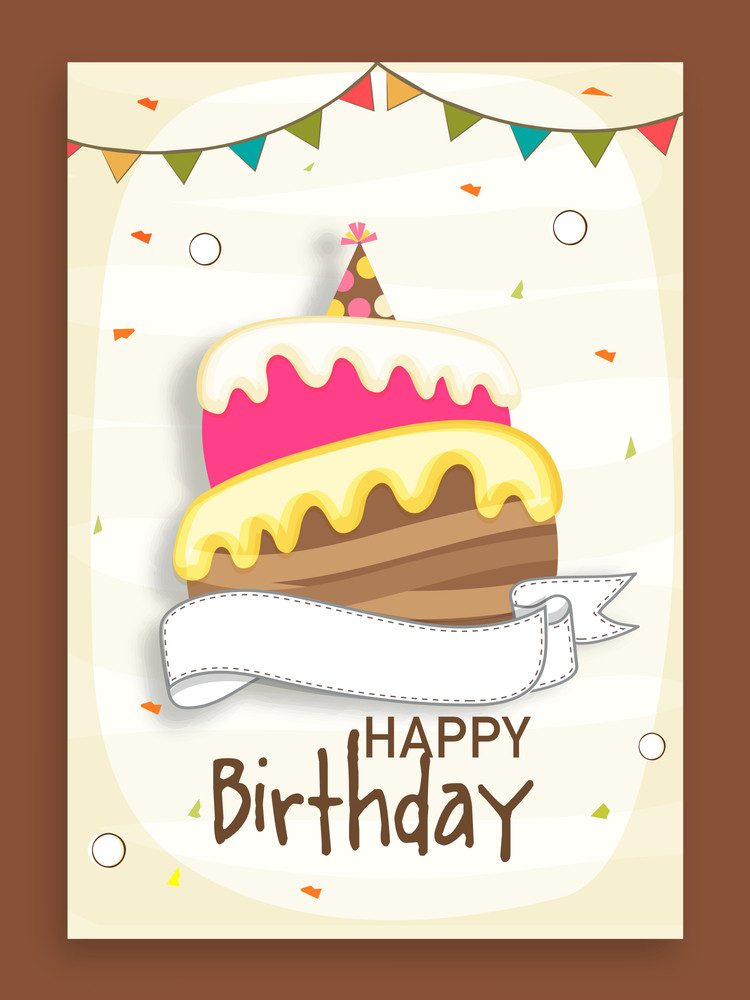 Birthday Celebration Beautiful Invitation Card Design Decorated By