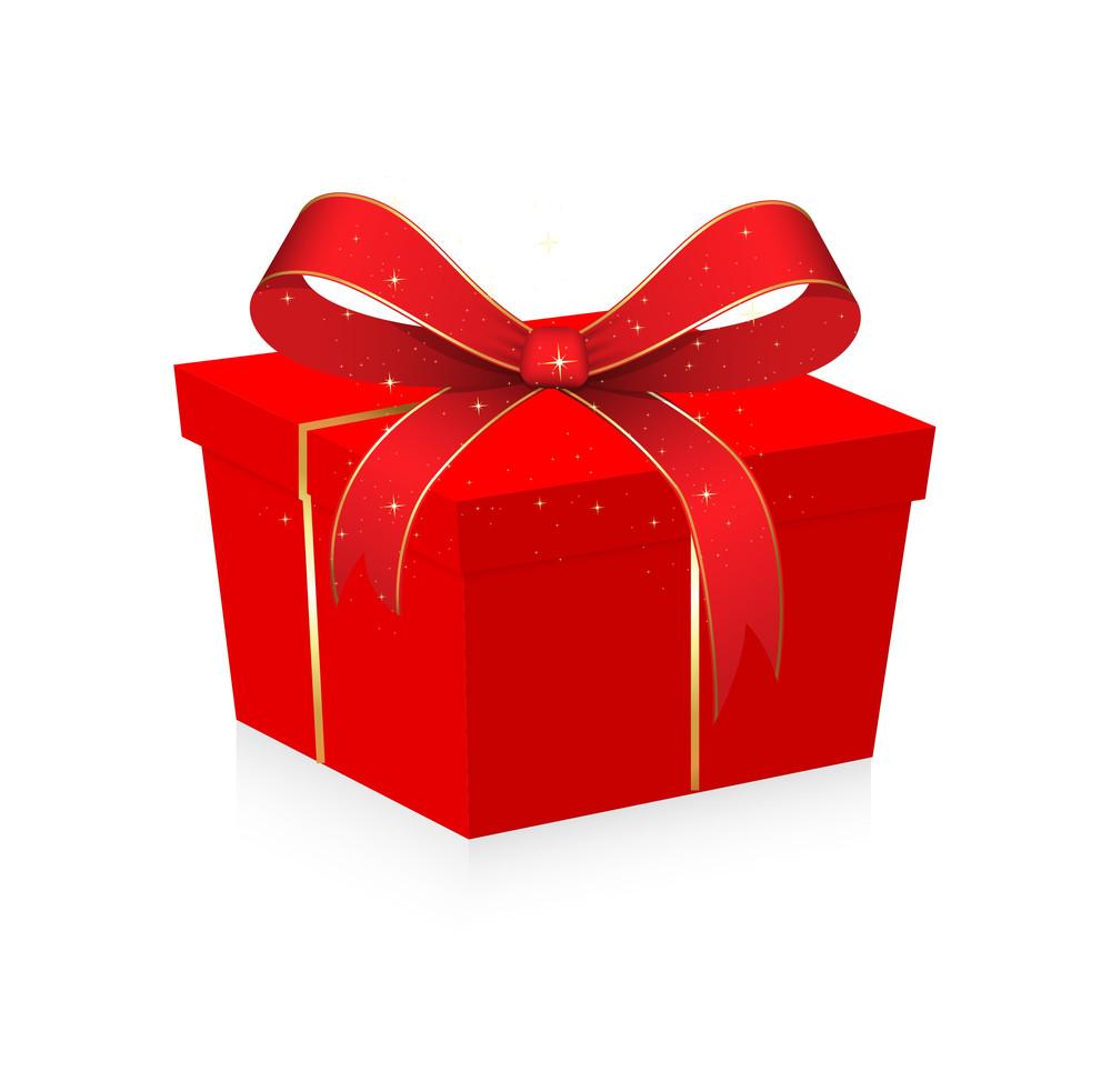 Birthday Gift Box Vector Illustration